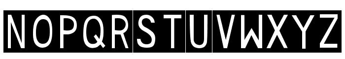 DJB Sticky Tape Labels Strips Font UPPERCASE