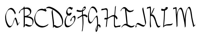 DJB TREASURE HUNT Font UPPERCASE