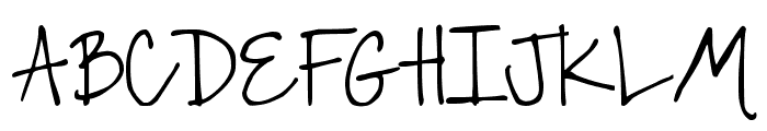 DJB The Font that is Liz Font UPPERCASE