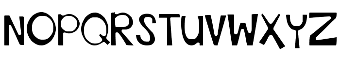 DJB This Font is Stressed Bold Font UPPERCASE