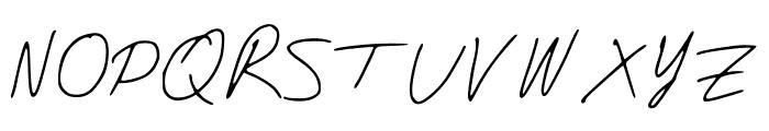 DJsSlantSerif Font UPPERCASE