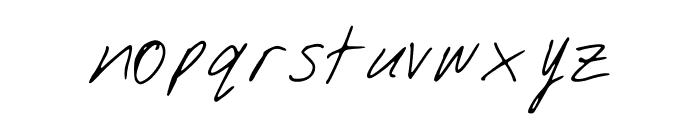 DJsSlantSerif Font LOWERCASE
