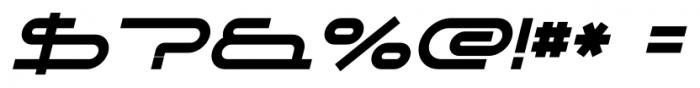 DJ Parade Bold Italic Font OTHER CHARS