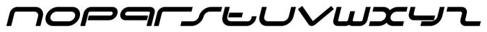 DJ Parade Bold Italic Font LOWERCASE