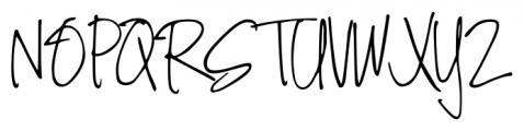 DJB Angel Baby Regular Font UPPERCASE