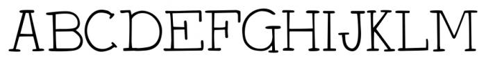 DJB Holly Typed Regular Font UPPERCASE