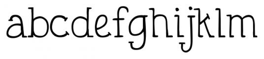 DJB Holly Typed Regular Font LOWERCASE