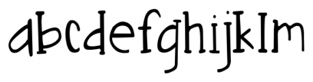 DJB Nouveau Straight Lite Font LOWERCASE