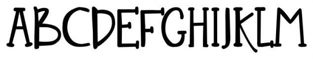 DJB Nouveau Straight Regular Font UPPERCASE