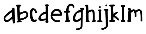 DJB Nouveau Straight Regular Font LOWERCASE