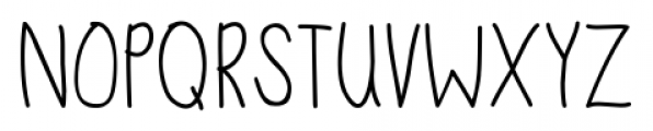 DJB Sand Shoes and a Fez Regular Font LOWERCASE