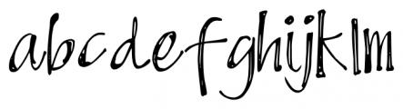 DJB Scruffy Angel Regular Font LOWERCASE
