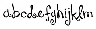DJB You Make Me Blush Regular Font LOWERCASE