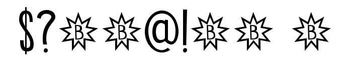 DK Bintang Regular Font OTHER CHARS
