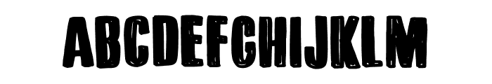 DK Bitumen Regular Font LOWERCASE