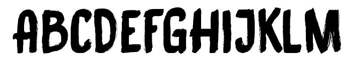 DK Black Bamboo Font UPPERCASE