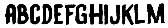 DK Black Bamboo Font LOWERCASE