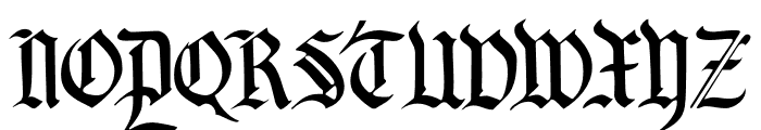 DK Blackminster Regular Font UPPERCASE