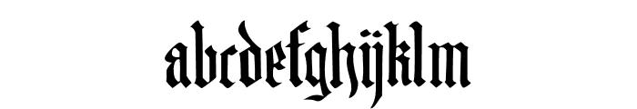 DK Blackminster Regular Font LOWERCASE
