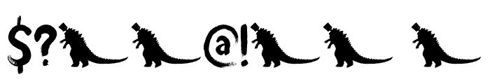 DK Brushzilla Regular Font OTHER CHARS