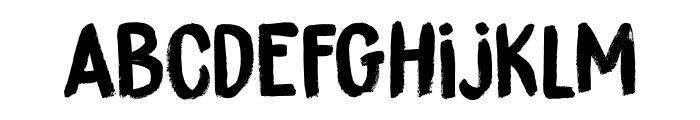 DK Brushzilla Regular Font LOWERCASE