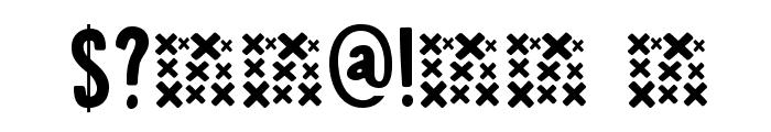 DK Canoodle Regular Font OTHER CHARS