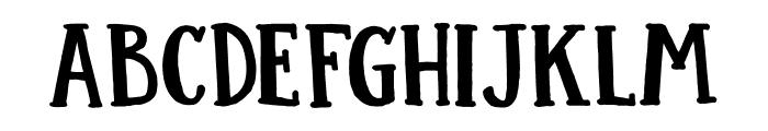 DK Colporteur Fat Regular Font UPPERCASE