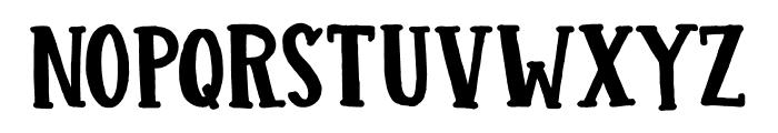 DK Colporteur Fat Regular Font LOWERCASE