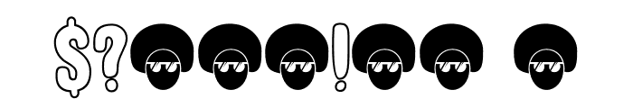 DK Cool Daddy Outline Regular Font OTHER CHARS
