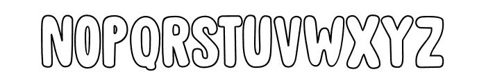 DK Cool Daddy Outline Regular Font UPPERCASE