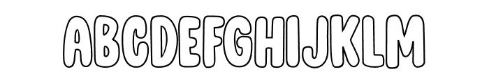 DK Cool Daddy Outline Regular Font LOWERCASE