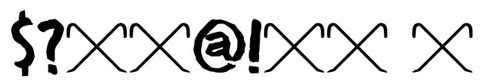 DK Crowbar Regular Font OTHER CHARS