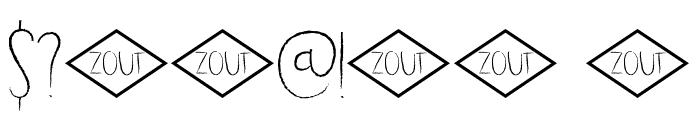 DK Dubbel Zout Regular Font OTHER CHARS