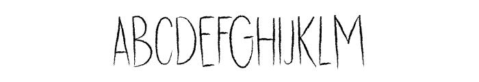 DK Dubbel Zout Regular Font UPPERCASE