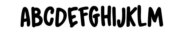 DK Grumpy Tiger Regular Font UPPERCASE