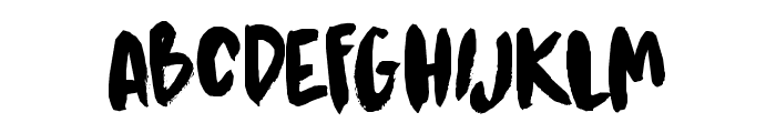 DK Kitsune Tail Regular Font UPPERCASE
