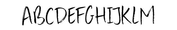 DK Konditorei Regular Font UPPERCASE