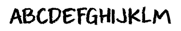 DK Leftover Crayon Regular Font UPPERCASE