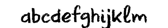 DK Leftover Crayon Regular Font LOWERCASE