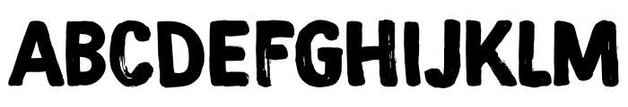 DK Magical Brush Regular Font UPPERCASE
