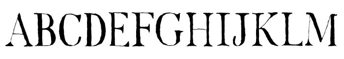 DK Mariken Regular Font UPPERCASE