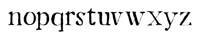 DK Mariken Regular Font LOWERCASE