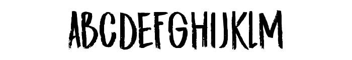 DK Midnight Chalker Regular Font UPPERCASE