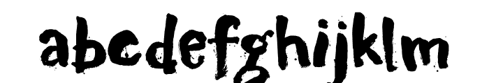 DK Motley Crew Regular Font LOWERCASE