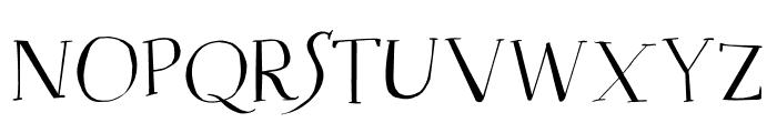 DK Mysterious Regular Font UPPERCASE