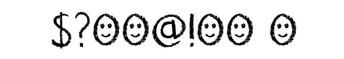 DK Nouveau Crayon Regular Font OTHER CHARS