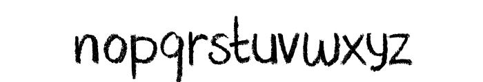 DK Nouveau Crayon Regular Font LOWERCASE
