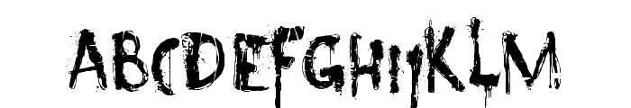 DK Nyctophobia Font UPPERCASE