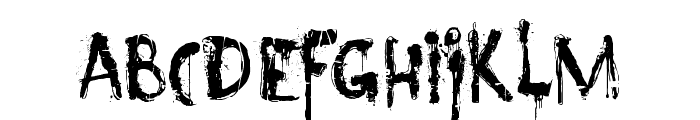 DK Nyctophobia Font LOWERCASE