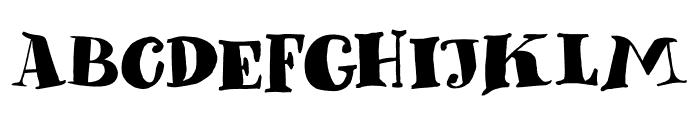 DK Phantom Peach Regular Font UPPERCASE